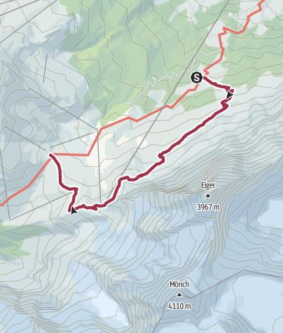 Karte / Auf dem Eigertrail: Eigernordwand hautnah