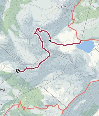 Karte / Bergwanderung über den Hochstollen