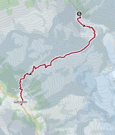Map / Wilder Übergang vom Gadmertal ins Haslital