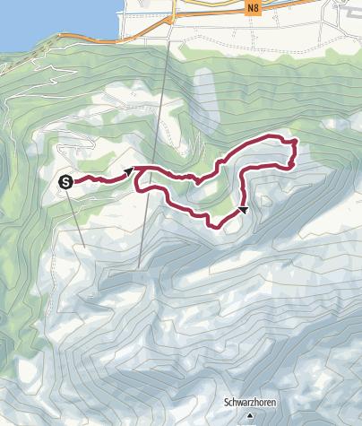 Karte / Zum Hinterburgseeli, dem Naturwunder auf der Axalp