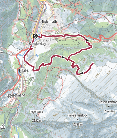 Map / Vom Ruedihus zur Doldenhornhütte SAC