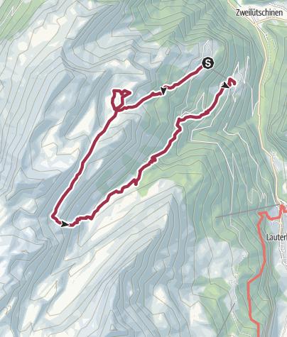 Karte / Zur Lobhornhütte SAC- ein Aussichtsbalkon ersten Ranges
