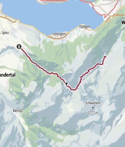Karte / Rengglipass –wilder Übergang vom Suld- ins Saxettal