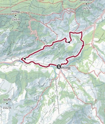 Karte / Auf der Sonnenseite der Honegg