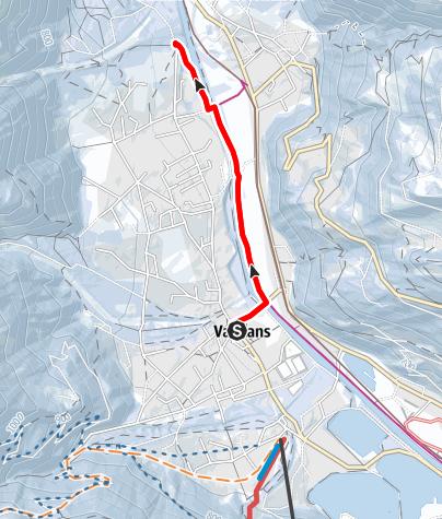 Karte / Vandans über Illweg zur Kapelle Venser Bild