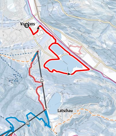 Karte / Rodunder-Seenrunde in Vandans