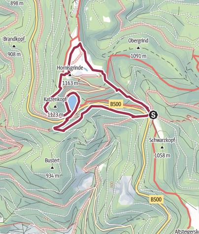 Karte / Genießerpfad - Mummelsee-Hornisgrindepfad