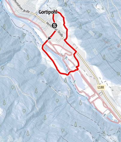 Karte / kleine Gortipohl Runde über Mällaweg