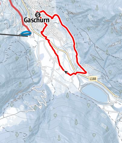 Karte / Gaschurn Runde über Kilknerwald und Unter Trantrauas