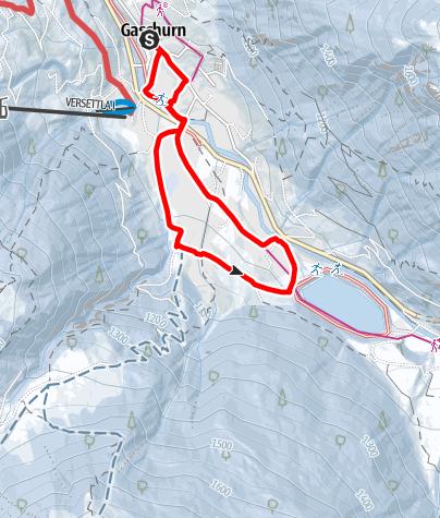 Karte / Rundweg Trantrauas Gaschurn