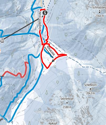 Karte / Von Gargellen nach Vergalda und retour