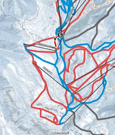 Karte / Wanderweg Älpli
