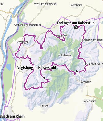 Karte / Kaiser-Tour