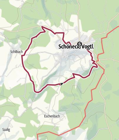 Karte / Wanderung 1 - Innerer Ringweg