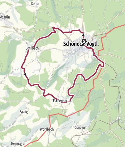 Karte / Wanderung 2 - Äußerer Ringweg