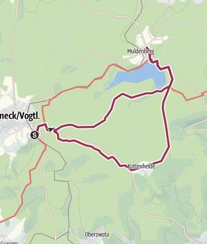 Karte / Wanderung 4 - nach Muldenberg und Kottenheide