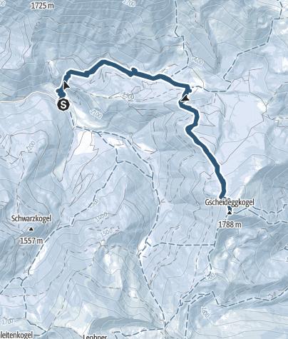Karte / Auf den Gscheideggkogel vom Johnsbachtal