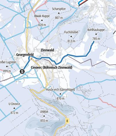 Map / Skiwanderweg Zinnwald (S5)