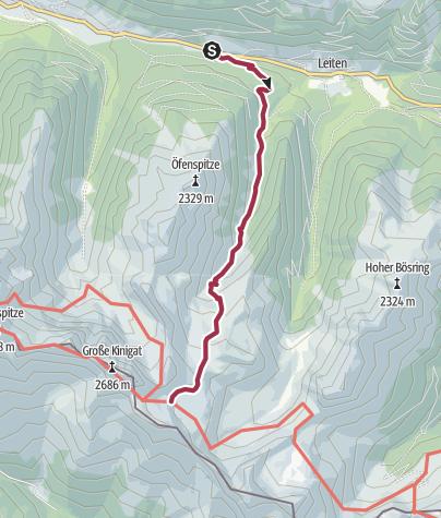 Karte / Auf die Filmoorhütte über das Schöntal