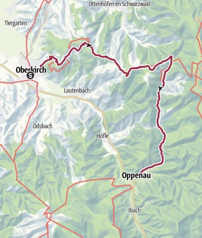 Karte / Oberkirch - Höhenwanderung zu den Allerheiligen Wasserfällen