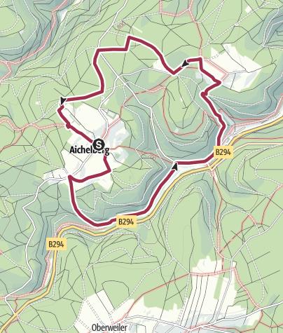 Karte / Von der Fautsburg zu den Bergorten