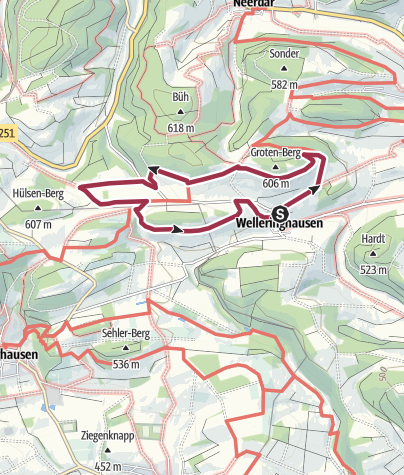 Karte / Vulkanpfad Welleringhausen (Qualitätstour)