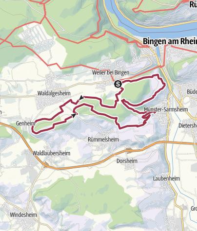 Karte / Rhein-Nahe-Schleife