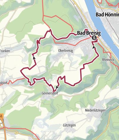 Kaart / Breisiger Ländchen