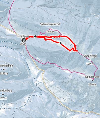 Map / Vom Hengstpass auf den Schwarzkogel