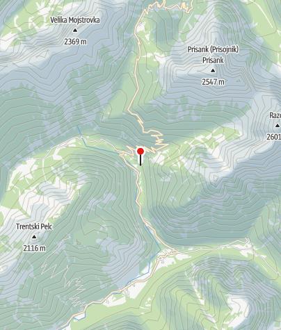 Karte / Tröge der Mlinarica