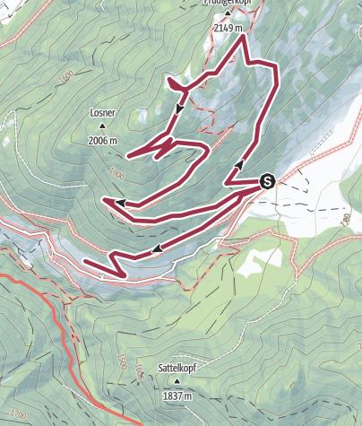 Karte / Kleiner Frudiger-Rundwanderweg