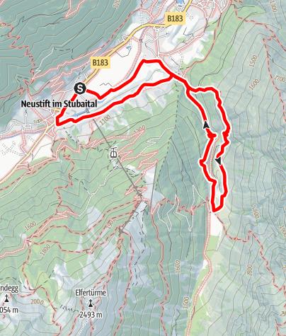 Karte / Der Besinnungsweg im Pinnistal