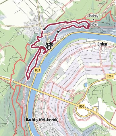 Karte / Ferienland-Wanderweg - (W)Ürziger Bergpfad - Ürzig