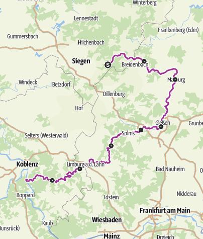 Karte / Lahntalradweg