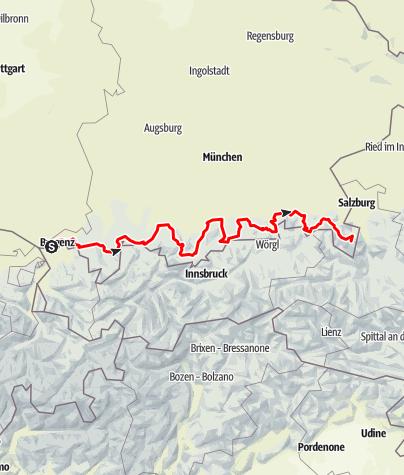 Karte / Deutsche Alpenstraße