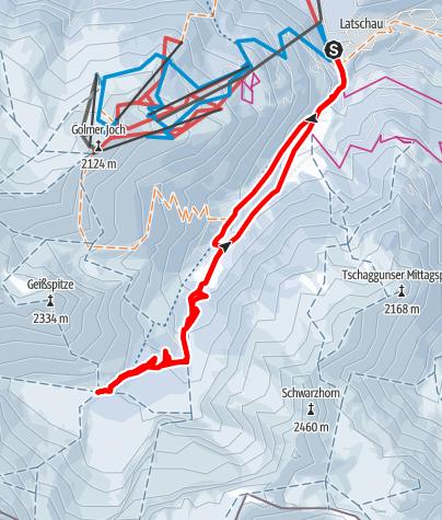 Karte / Lindauer Hütte (1.744m)