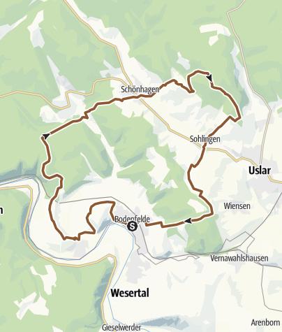 Mapa / Tour 11 Vom Hutewald zum Sollingturm