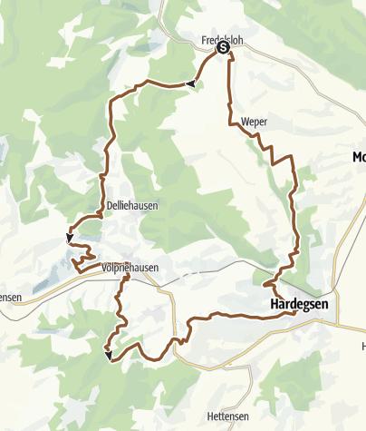 Karte / Tour 14 Vom Weperkamm zum Bergsee
