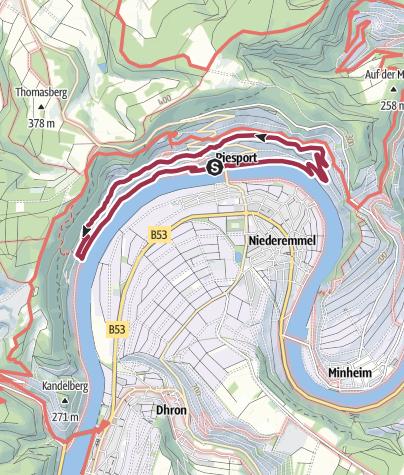 Karte / Ferienland-Wanderweg - Piesporter Moselbogen - Piesport