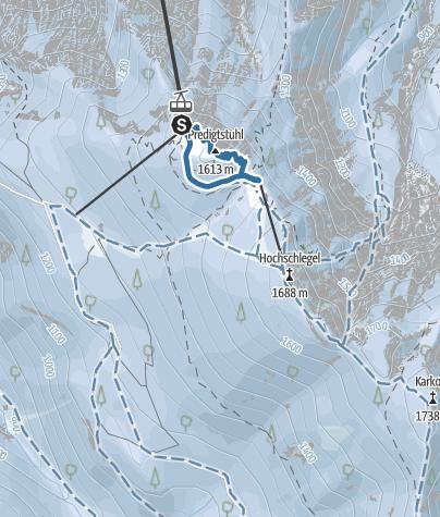 Karte / Predigtstuhl Schneeschuhwanderung