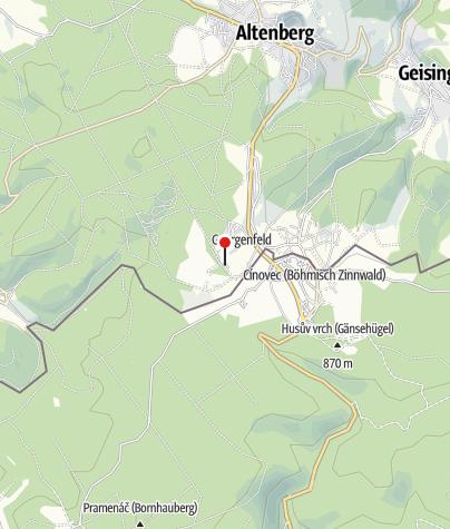 Karte / Beerenhütte Zinnwald