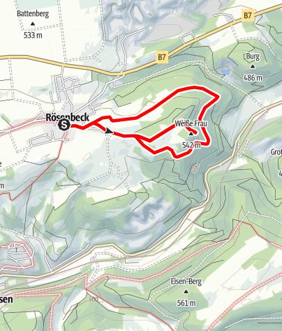 Karte / Brilon-Rösenbeck (R2) 5,4 km