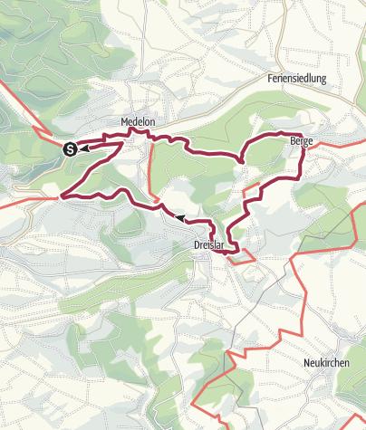 Karte / Orketalrundweg (Medebach: Medelon-Berge-Dreislar)