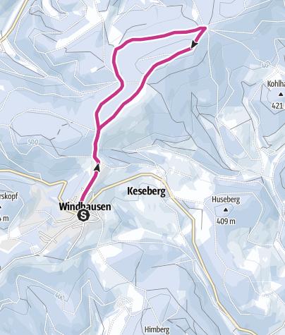 Karte / Panoramawandern bei Windhausen: Winterwanderung auf dem Sauerland-Höhenflug