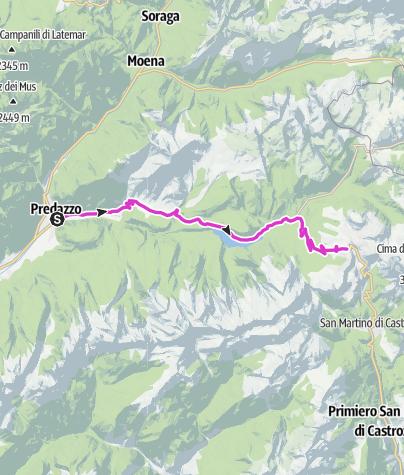 Cartina /  Giro d'Italia - P.so Rolle