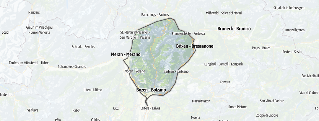 Karte / Wanderungen in den Sarntaler Alpen