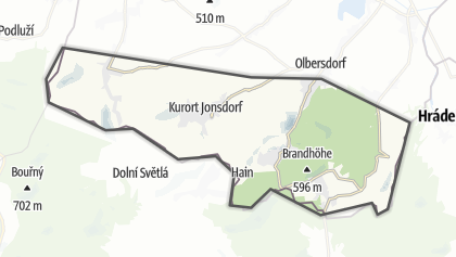 Mapa / Zittau Mountains