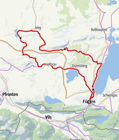 Karte / Radrunde Allgäu Etappe Radklassiker