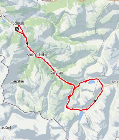 Karte / 3-Seen Tour Silvretta (Silvretta-Bielerhöhe)