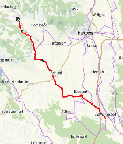 Karte / Safentalradweg HB 18